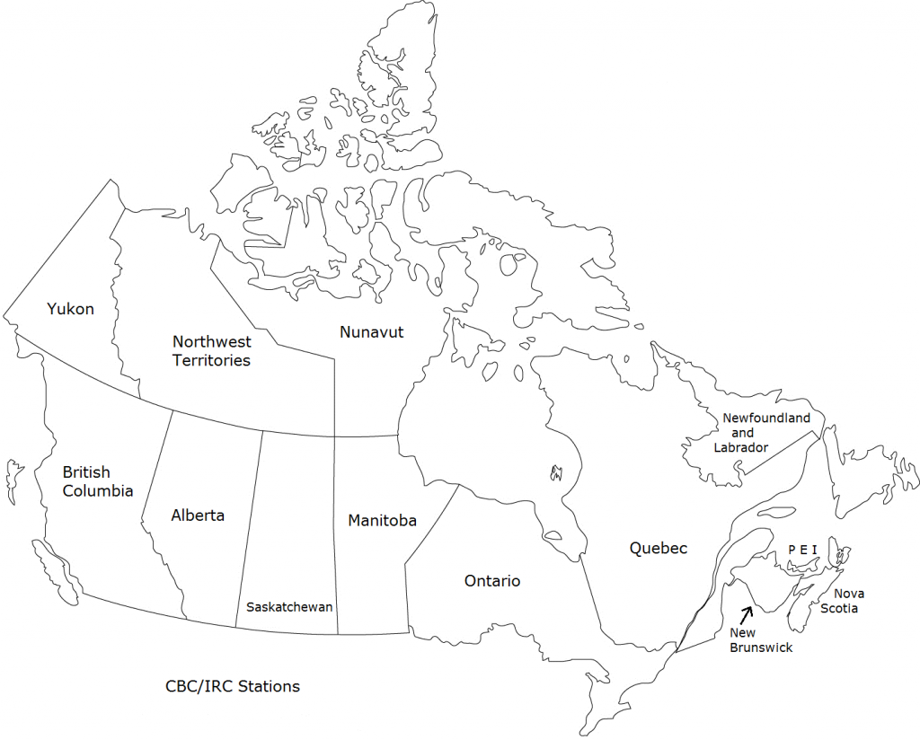 Canadian Radio Directory Map