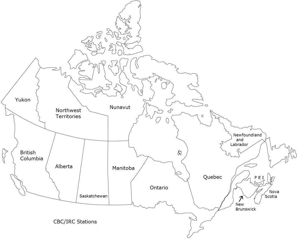 Canadian Radio Directory Map